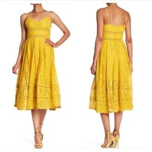 Nsr small yellow lace dress